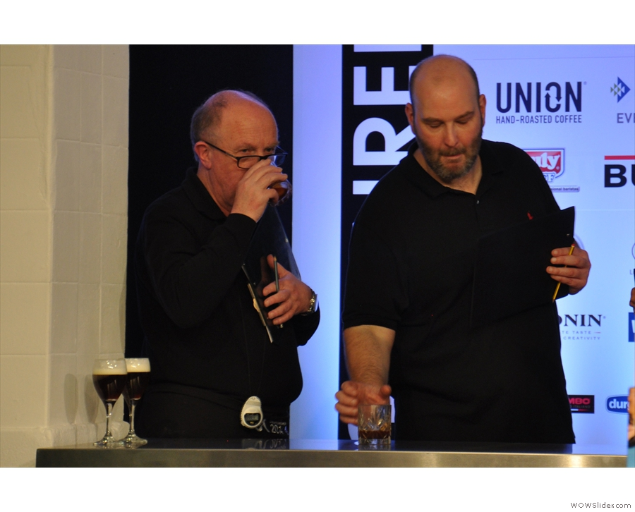 There's still time for the judges to sample the Coffee-groni...