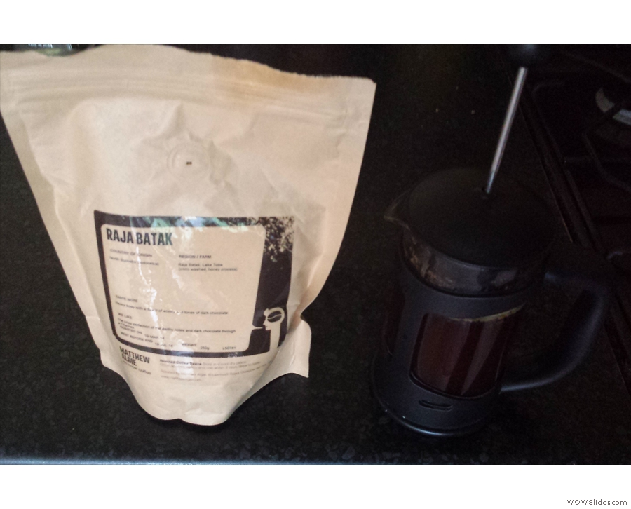 I also took home some of the Sumatran, which became my breakfast coffee for a while.