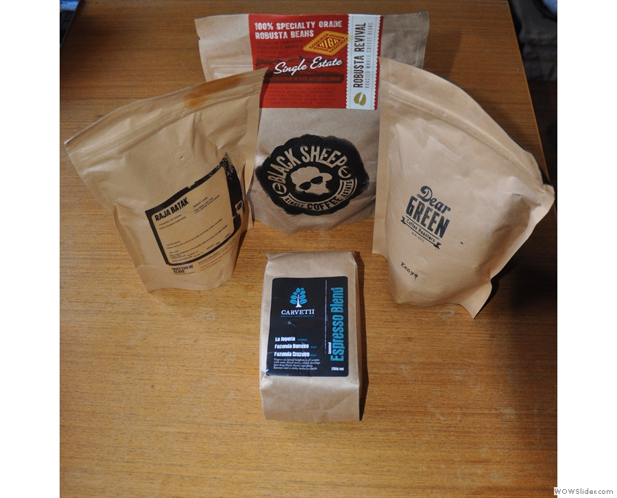 My coffee from the London Coffee Festival. This gallery: Matthew Algie & Dear Green Coffee.