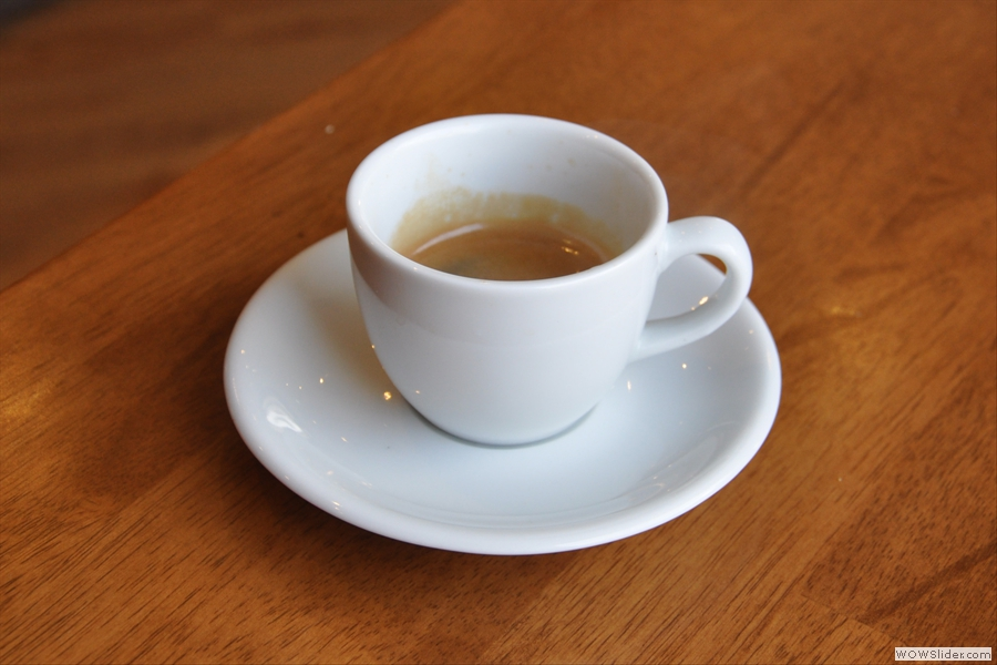 This is what we want: great espresso in a classic cup