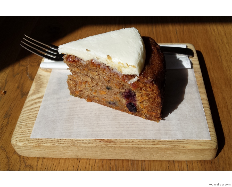 My sweet potato and mixed berry cake, which tasted far nicer than it sounded!