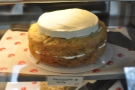 As well as the common place, there are more adventurous offerings, such as this courgette & lime cake.