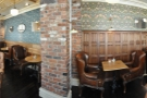 A 180 degree panorama taken from the middle of the upstairs.