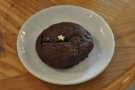 A chocolate cookie. Having passed on the cake, I felt obliged to eat this one.
