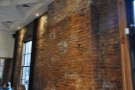 I loved the bare brick walls...