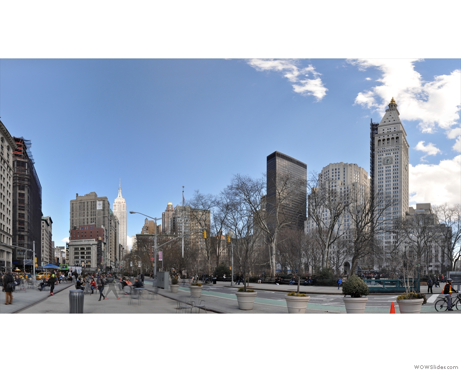 And looking the other way, across Madison Square Park, there's the Empire State Building.