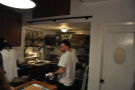 From my vantage point at the end of the counter, I had a good view of the kitchen...