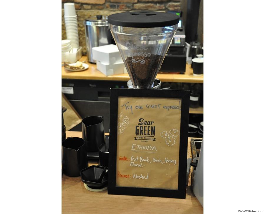 The guest espresso...