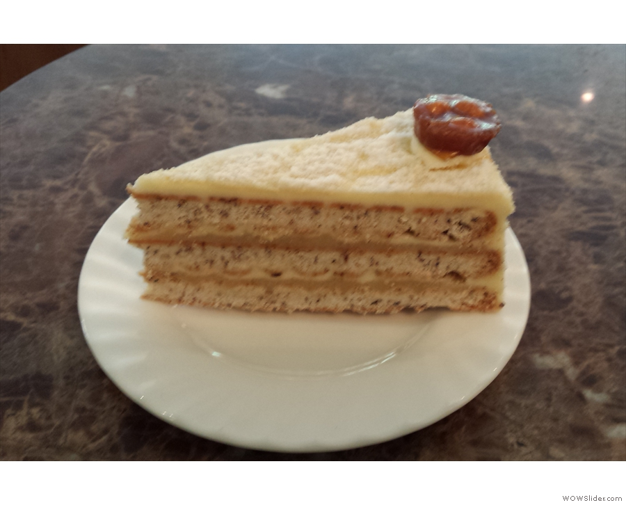 ... and here it is, a slice of the amazing Engadine Torte.