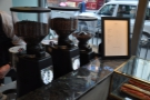 ... which sits beside the three grinders (house blend, single origin, decaf).