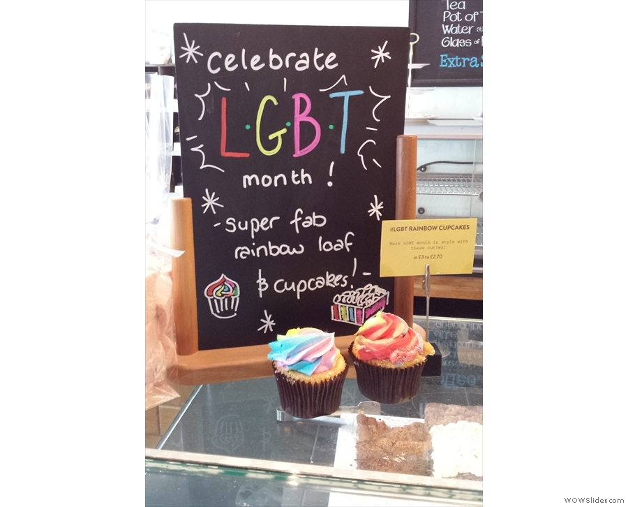 I was particularly taken by the LGBT cupcakes.