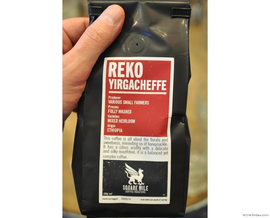 However, he used a distinctly modern coffee :-)