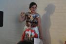 To get us warmed up, we have some communal singing, led by Vivien Ellis.