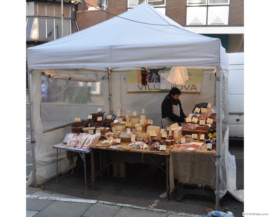 And a little further down the street we have my favourite Italian Deli stall, Villanova.