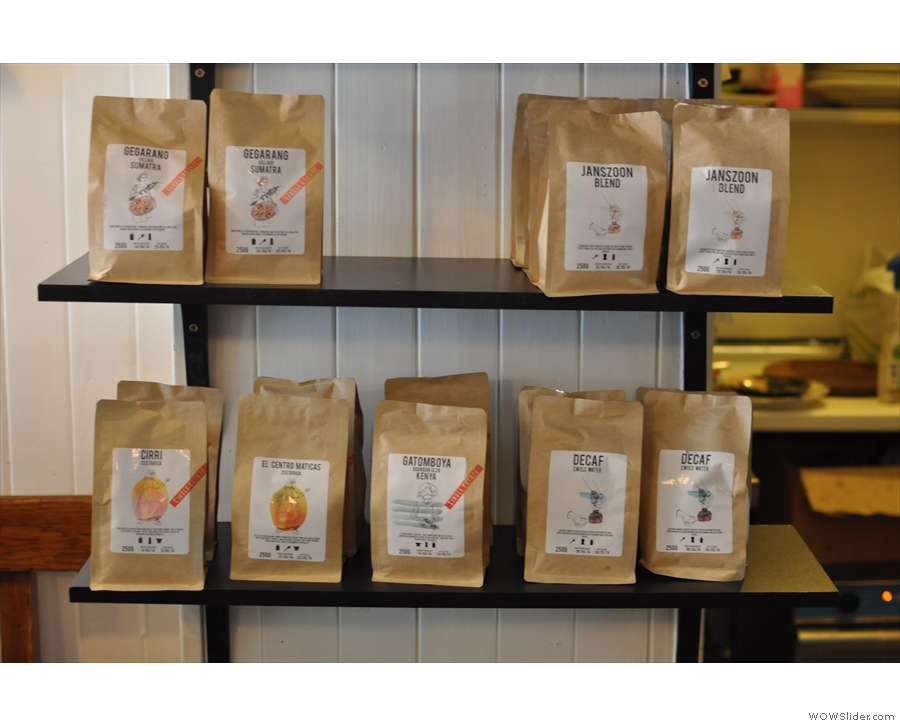 Back in the front half, some of Artisan Roast's produce.
