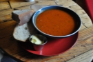 The soup, in close up.