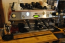 And the espresso machine, a two-group La Marzocco.
