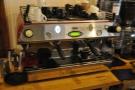 And the espresso machine, a two-group La Marzocco.