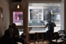 It was very busy, making interior shots tricky... Here's a view of the window...