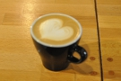 While Robbie shows off his latte-art, I demonstrate my inability to focus the camera!