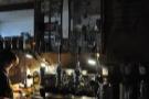 The espresso machine, tucked away in a dark corner...