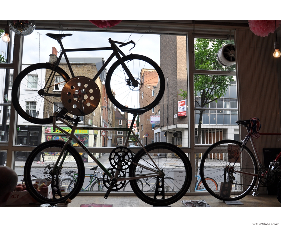 Bikes in the window...