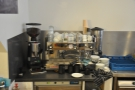 .... and the espresso machine.
