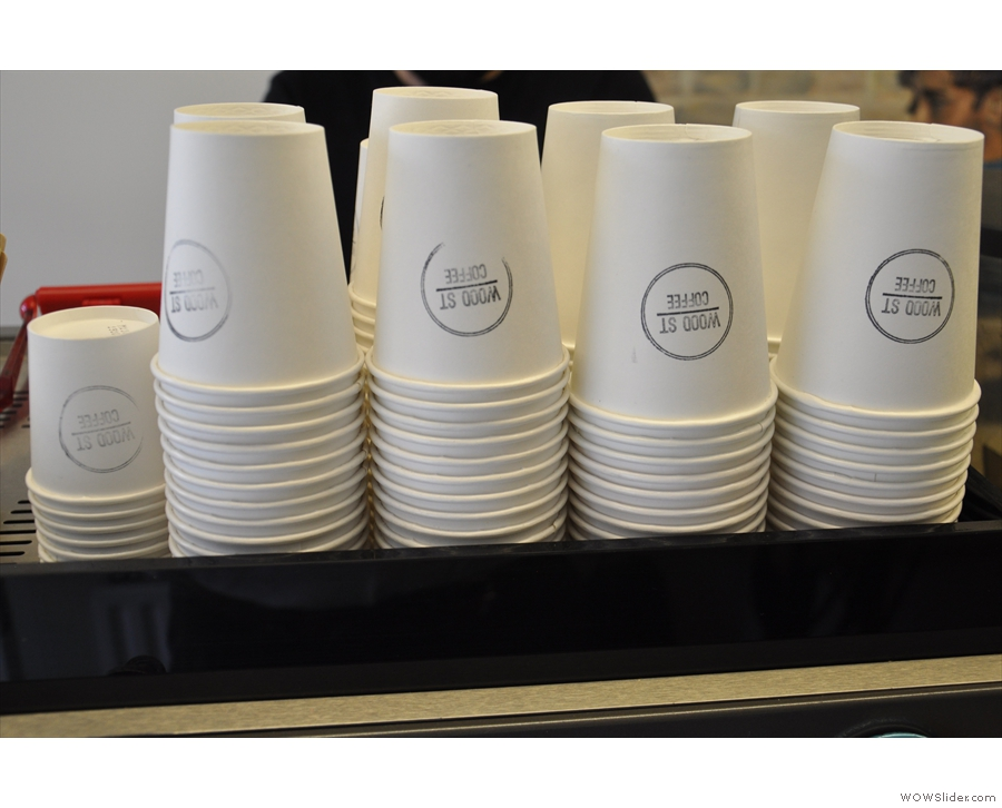It's all takeaway cups though. I like the simple design.
