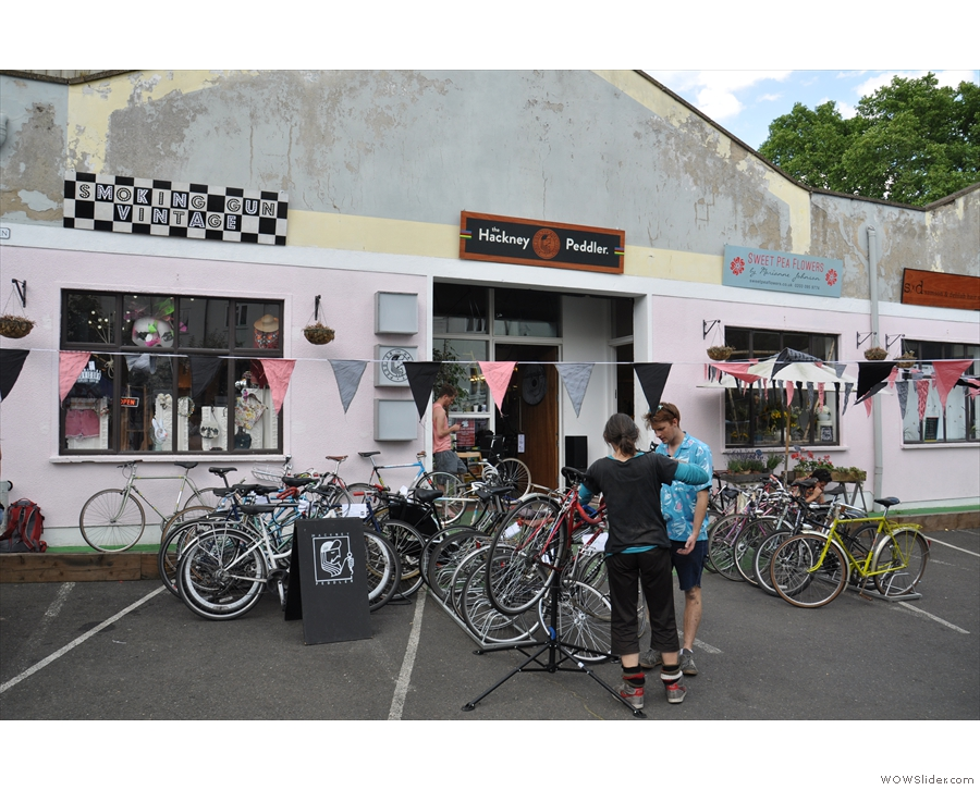 Terrone shared the market with all sorts, including a vintage store, bike shop & florist.