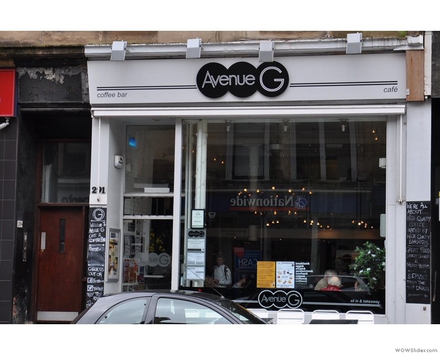 Avenue G on the busy Byres Road.