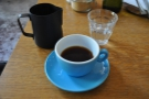 And my coffee: Costa Rican (Vista La Valle) through the Clever Dripper.