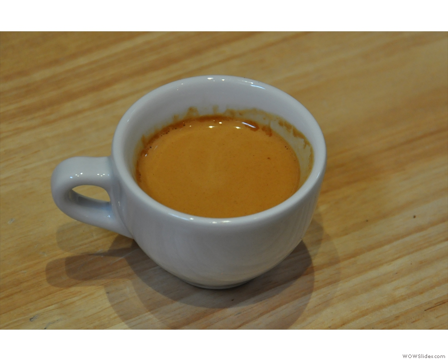 It tasted every bit as good as it looked: a Bolivian single-origin espresso.