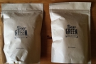 I also got some beans to take home with me... Here's a bag of Ethiopian & El Salvadorian.