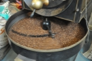 I love watching the beans going round and round in the roasting pan.