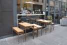 Some of the exterior seating: a challenging environment for getting the tables level!