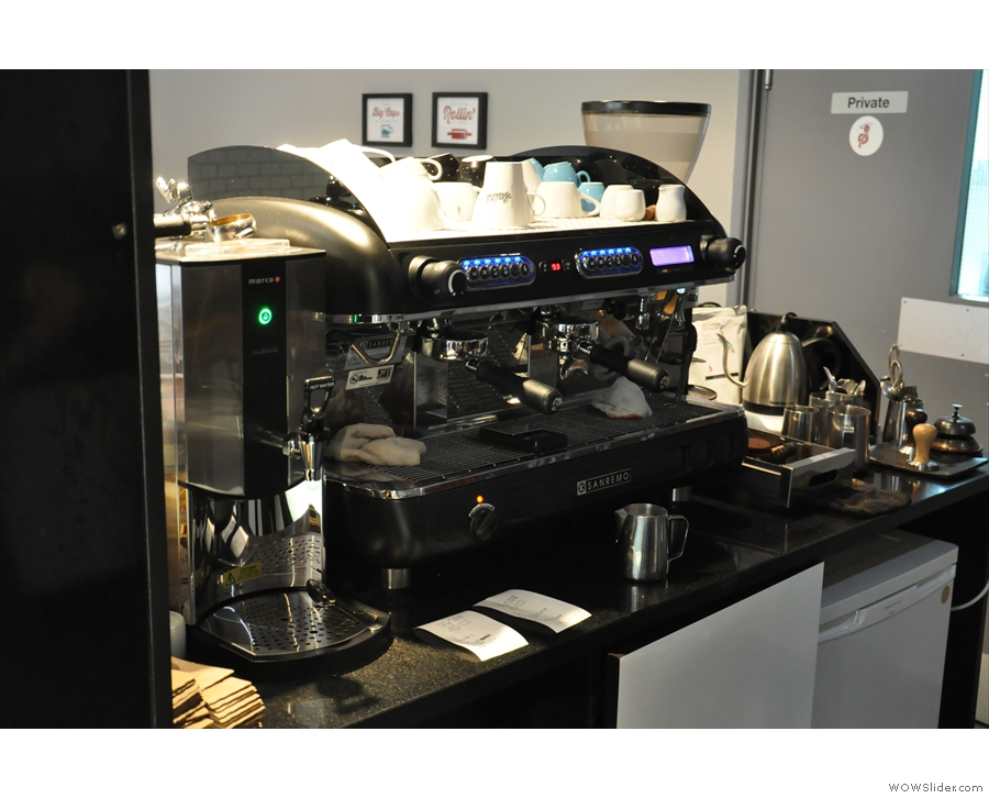 ... and this shiny new Sanremo is in its place.