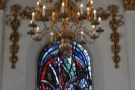 The central window, plus chandelier.