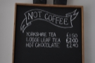 ... and there's 'not coffee' (good description).