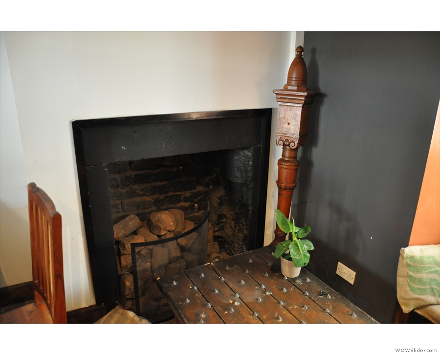 I really liked the fireplace.