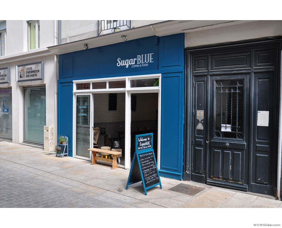 Sugar Blue Cafe in the heart of Nantes...
