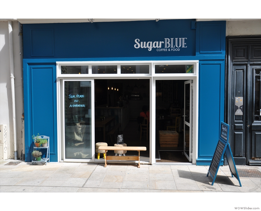 The front of Sugar Blue...