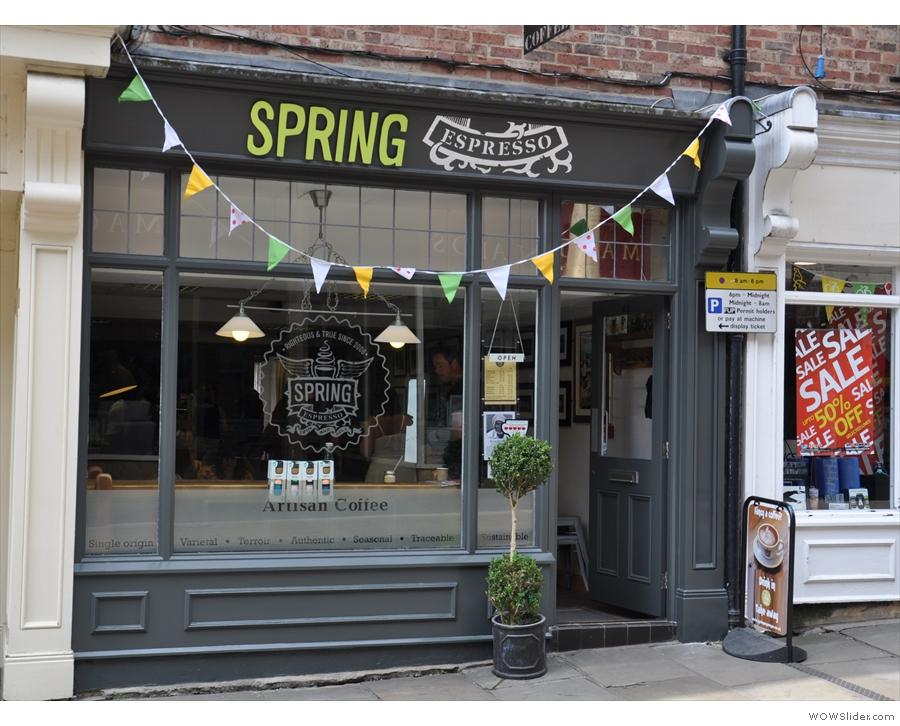 Spring Espresso, on York's Fossgate