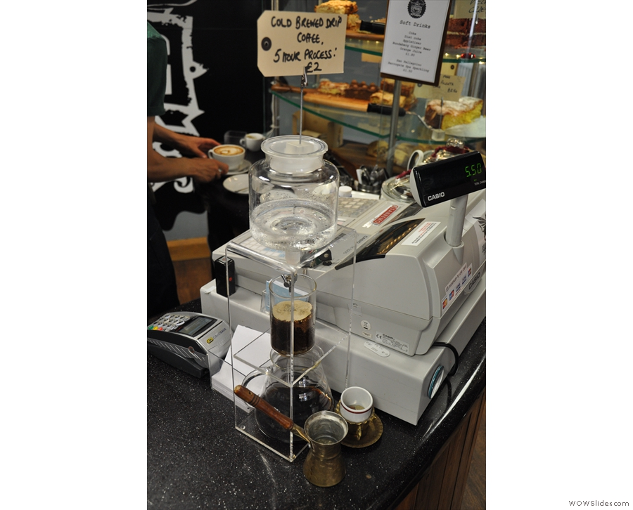 You can also have cold brew, which is being made here right next to the till.