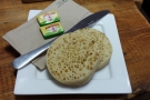 I had the crumpets. I haven't had crumpets in years!