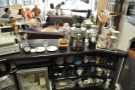 The barista's view of the business end of the counter.