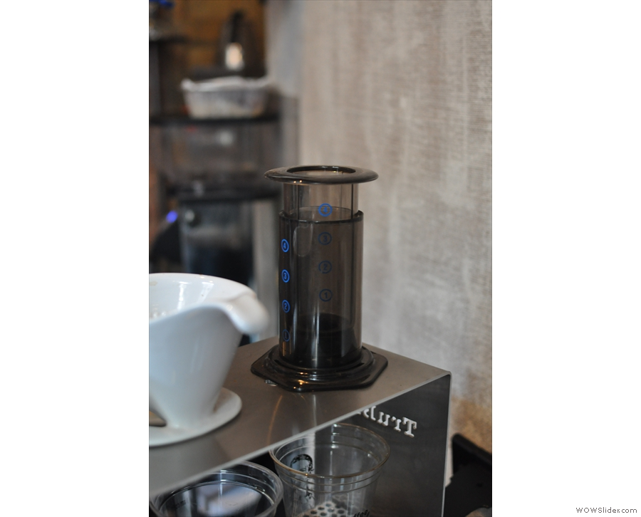 There's also an aeropress option, although I didn't see it in action.