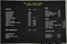 The very comprehensive drinks menu.