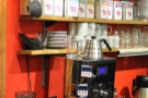 ... and the kettle and grinders for the filter coffee.