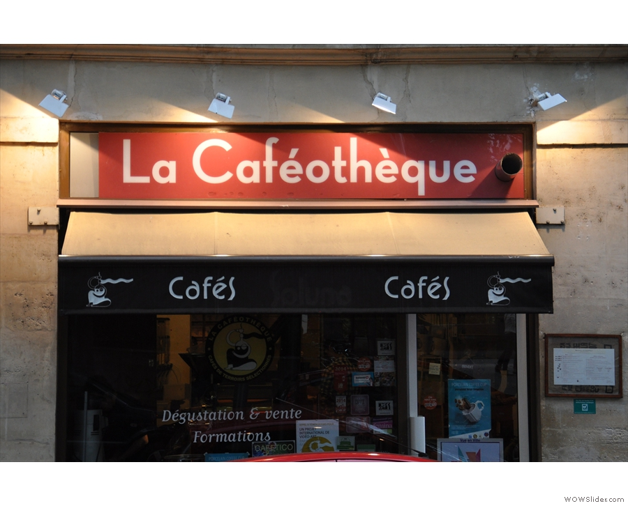 The main (and original) entrance to La Caféothèque.