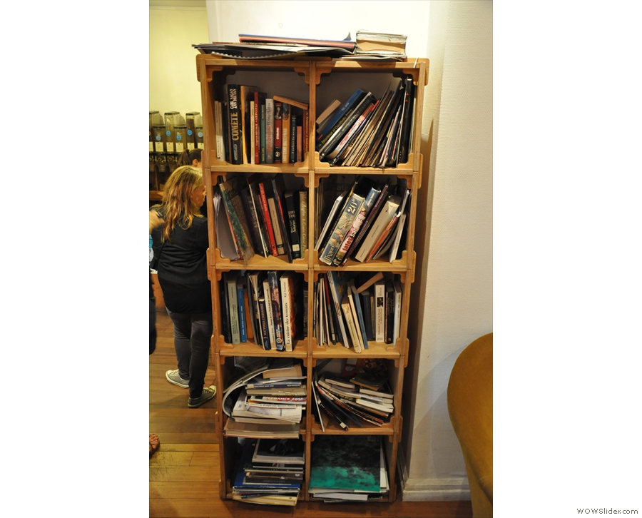Next to it is this very well-stocked bookcase...